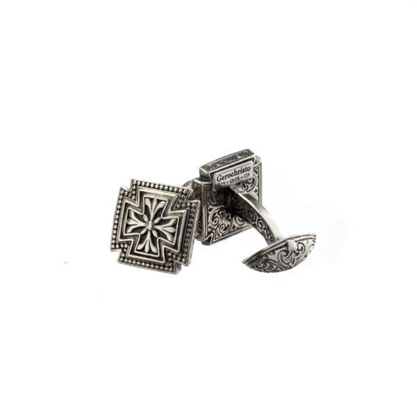 Sterling Silver Medieval-Maltese Cross Cufflinks