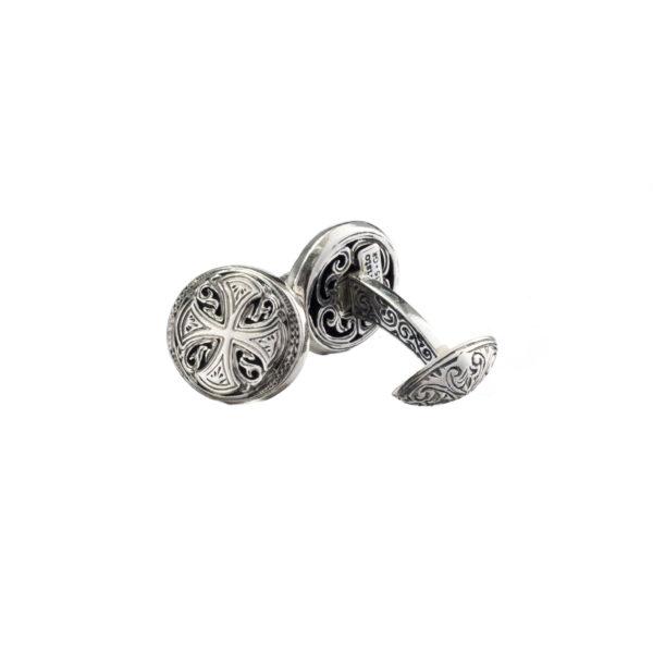 Maltese Cross ~ Sterling Silver Medieval Cufflinks