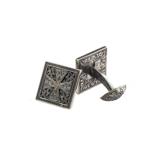 Sterling Silver Medieval Cross Cufflinks