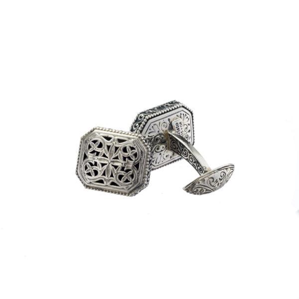 Sterling Silver Medieval Byzantine Filigree Cufflinks