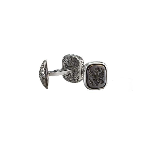 Double Headed Eagle - Byzantine Silver & Bronze Cufflinks