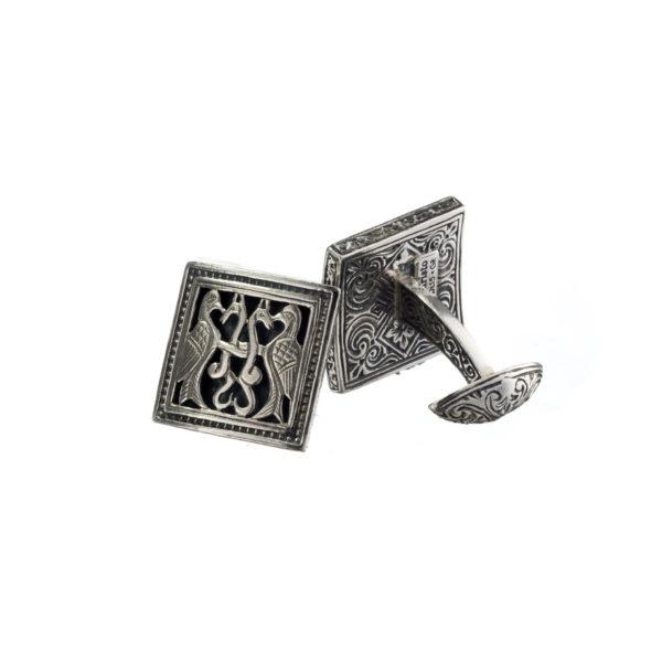 Sterling Silver Medieval Byzantine Cufflinks