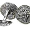Double Headed Eagle -Byzantine Sterling Silver Cufflinks