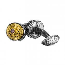 Sterling Silver & Zircon Byzantine-Medieval Filigree Cufflinks