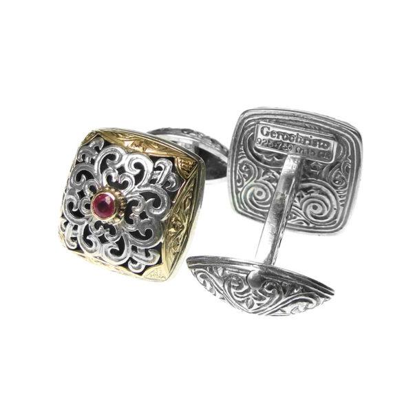 Solid Gold & Sterling Silver Medieval Byzantine Cufflinks
