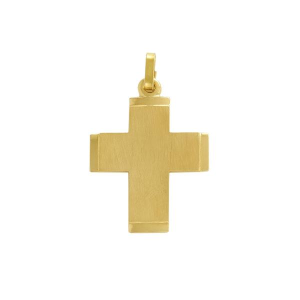 14K yellow Gold handmade cross.