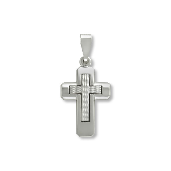 14K white Gold, handmade cross.