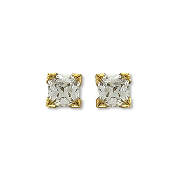 18K Gold, handmade, Diamond earrings.