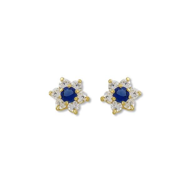 14k Yellow Gold Rosetta style earrings.