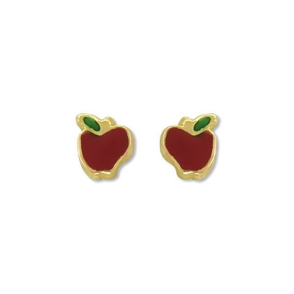 14k Yellow Gold Baby Earrings