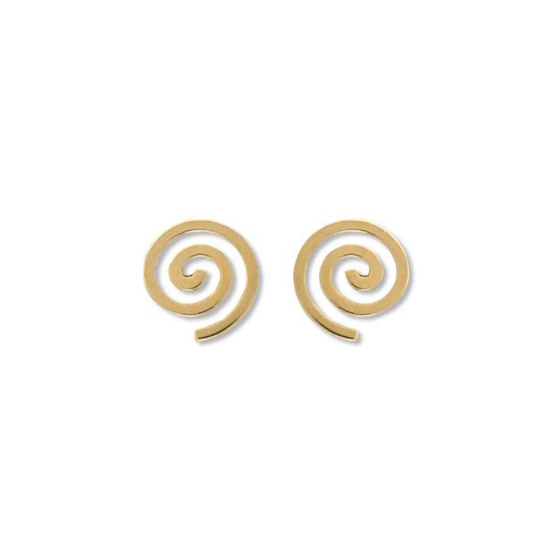 14K Gold Greek Spiral earrings.