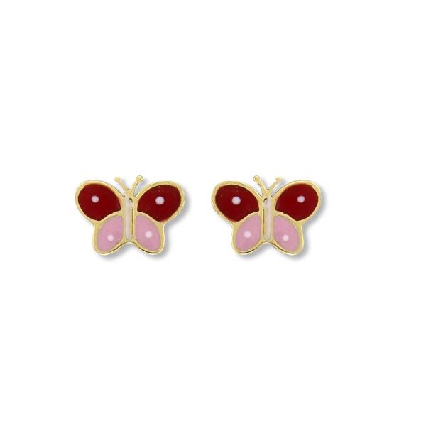 14K Gold Butterfly earrings.