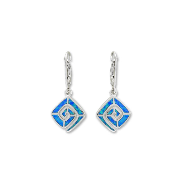 Silver 925, handcrafted earrings with Opal stone.