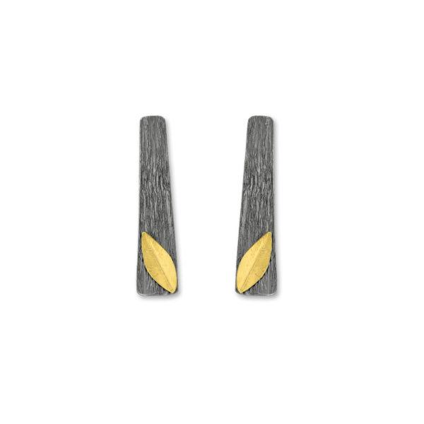 Sterling Silver Gold Plated Handmade Earrings.