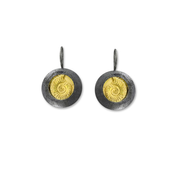 Sterling Silver and Gold plated Handmade Earrings.