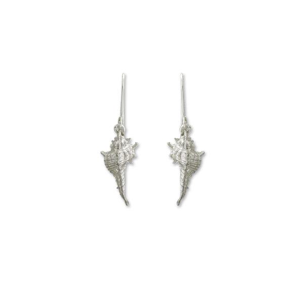 Sterling Silver Secret Seashell Earrings.