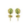 18K Gold, handmade Byzantine enamel earrings.