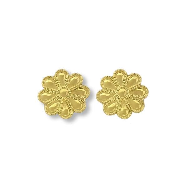 18K Gold handmade byzantine earrings.
