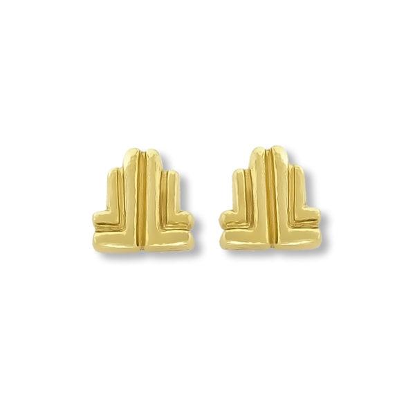 18K Gold handmade Greek-byzantine earrings.