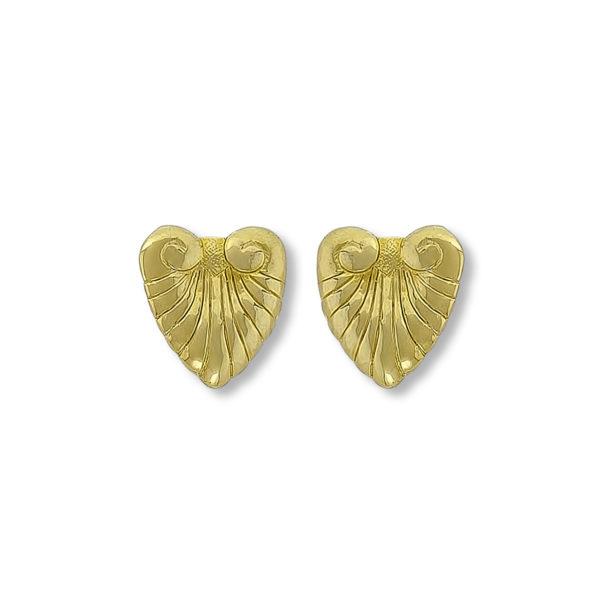 18K Gold handmade Ancient Greek design earrings.