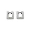 18K white Gold, handmade, Diamond earrings.