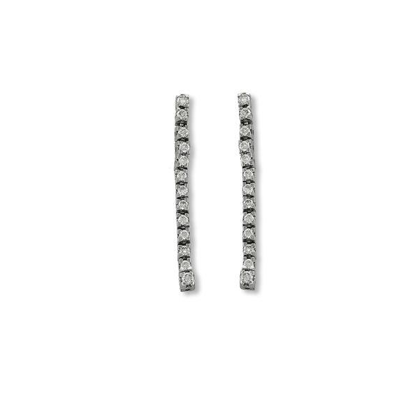18K white Gold, handmade, Diamonds earrings.