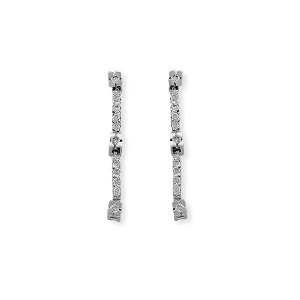 18K white Gold, handmade, Diamond earrings.