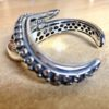 Silver 925, handmade octopus tentacle bracelet.