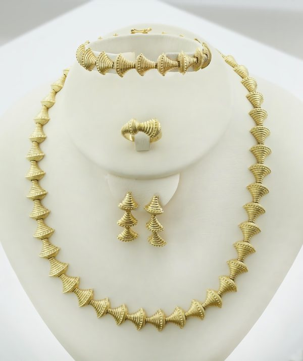 18K Gold, handmade, jewelry set.