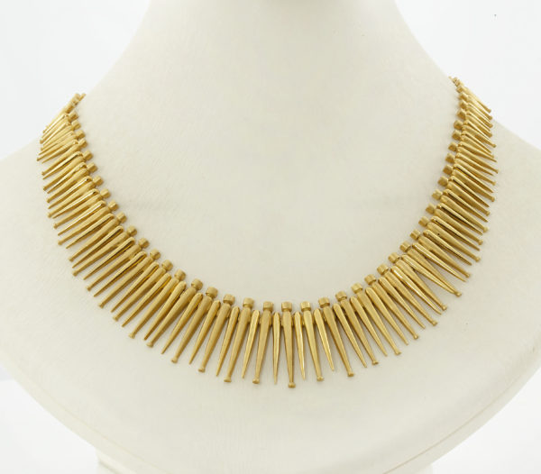 18K Gold, handmade necklace.