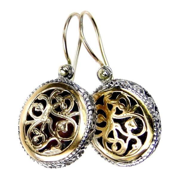 Gerochristo Sterling SilverMedieval-Byzantine Drop Earrings