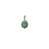 Sterling Silver with Gold Plated Parts Doublet stone Pendant.