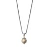 Sterling Silver with Gold Plated Parts Freshwater pearl Pendant.
