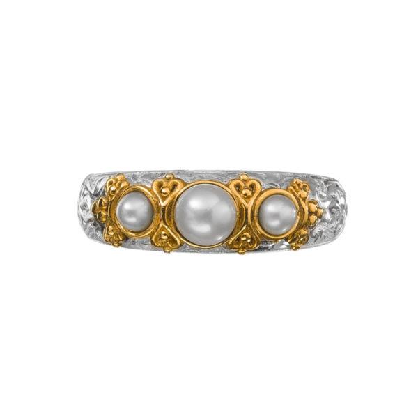 Gerochristo Sterling Silver Multi Stone Band Ring