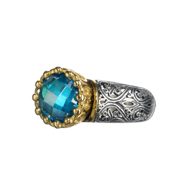 Sterling Silver Medieval-Byzantine Solitaire Ring