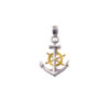 Anchor pendant in Sterling Silver with Gold Plated parts.