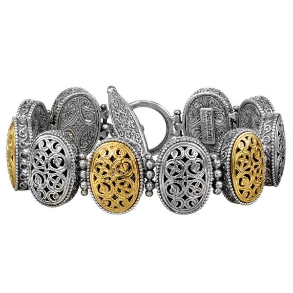 Sterling Silver Medieval-Byzantine Link Bracelet