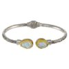 Gerochristo Sterling Silver & MOTHER of PEARL Medieval Cuff Bracelet