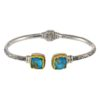 Gerochristo Sterling Silver & TURQUOISE-COPPER Medieval Cuff Bracelet