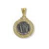 14K Gold, handmade coin pendant.