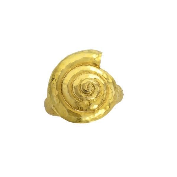18k goldSeashell Ring