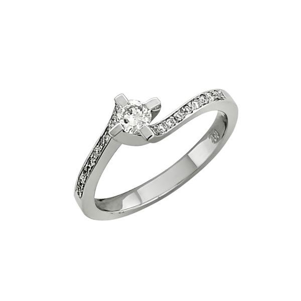 18K white Gold, Diamond ring.