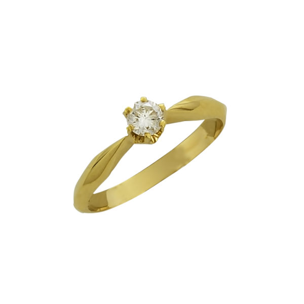 18K Yellow Gold Diamond ring.