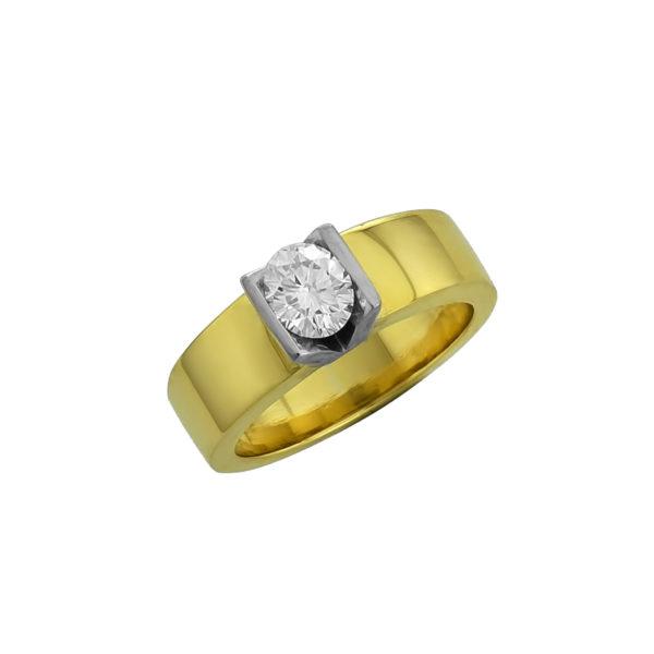 18K Gold, handmade, Diamond ring.