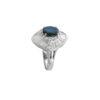 18K white Gold, handmade, Saphire and Diamond ring.