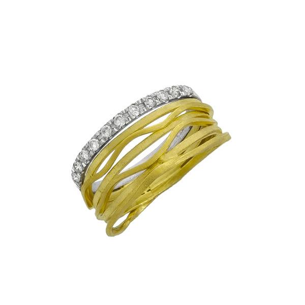 14K Gold and White Gold handmade Diamond ring.