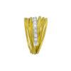 18K Gold and White Gold, handmade, Diamond ring.