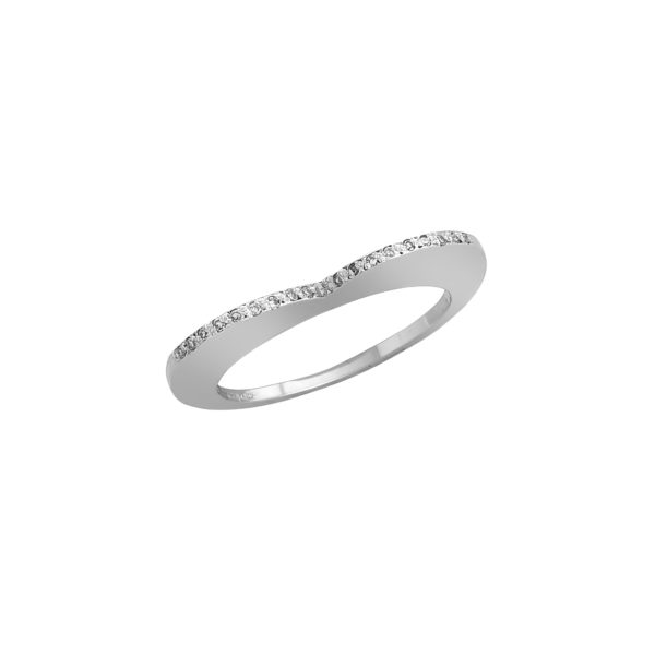 18K White Gold, minimal Diamond ring.