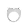 18K White Gold, minimal Diamond ring.