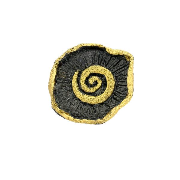 Silver 925, handmade, Greek spiral ring.